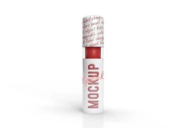 3d-verpackungsdesign-modell des lippenstifts