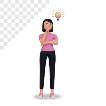 3d weiblicher charakter sucht nach ideen