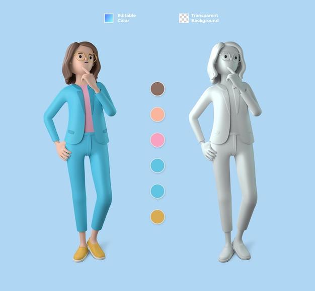 3d weibliches charaktermodell