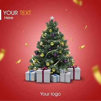 3d weihnachtsbaum modell