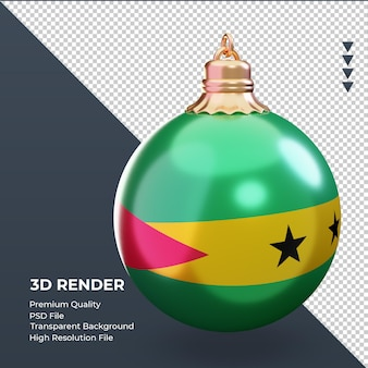 3d weihnachtskugel sao tome und principe flagge rendering linke ansicht
