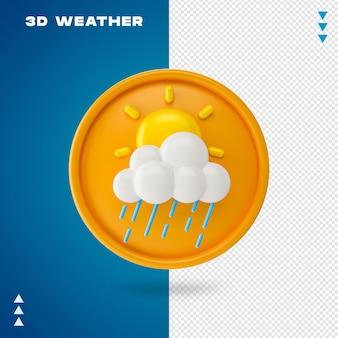 3d-wetter-rendering isoliert