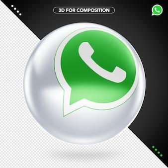 3d whatsapp logo