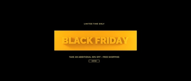 3d-wiedergabe des schwarzen freitagsverkaufs