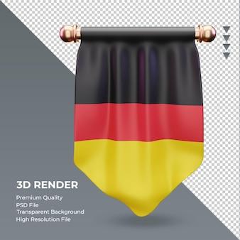 3d wimpel deutschland flagge rendering vorderansicht
