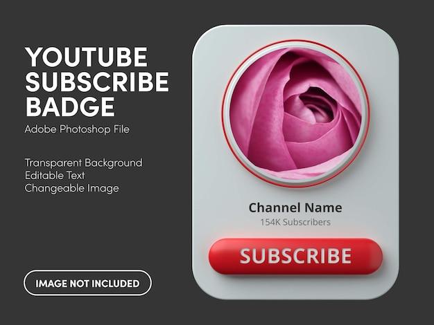 3d youtube abzeichen für abonnieren
