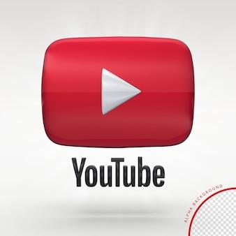 3d youtube logo