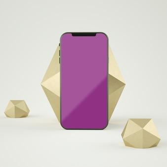 3d-zusammenfassung vollbild-smartphone-modell 3d-rendering