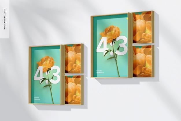 4: 3 frame set mockup