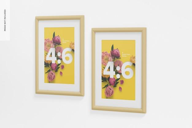 4: 6 portrait frame mockup, rechte ansicht