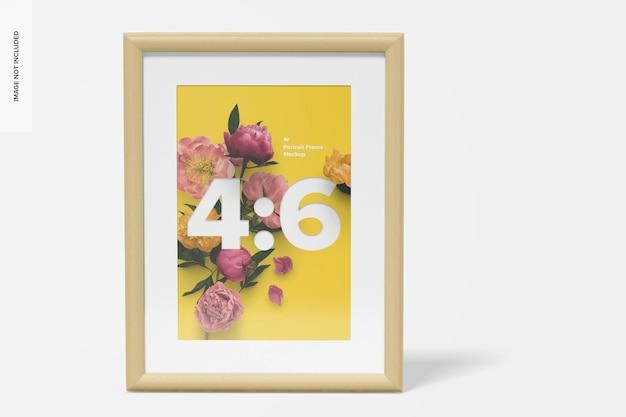 4: 6 portrait frame mockup, vorderansicht