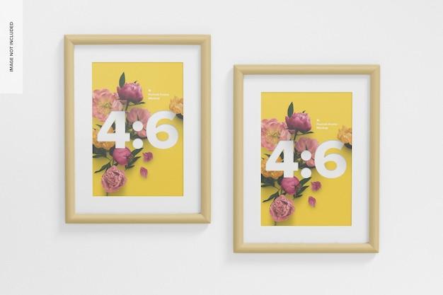 4: 6 portrait frames mockup