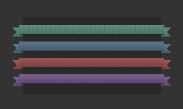 4 farbige bänder psd