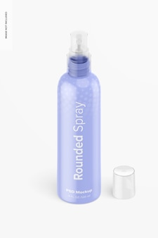 4 oz abgerundetes spray-mockup