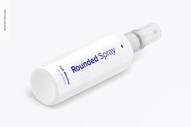 4 oz spray abgerundetes mockup