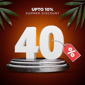 40 prozent rabatt sommer 3d design