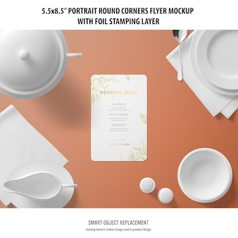 5,5x8,5 '' portrait flyer mockup