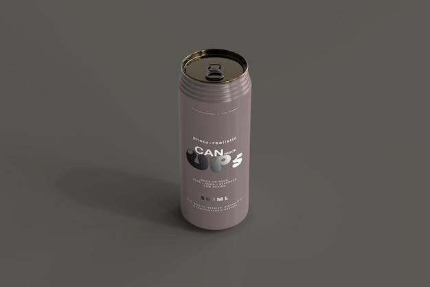 500ml sleek soda can mockup