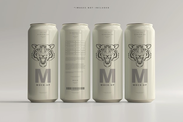 500ml sleek soda oder beer can mockup