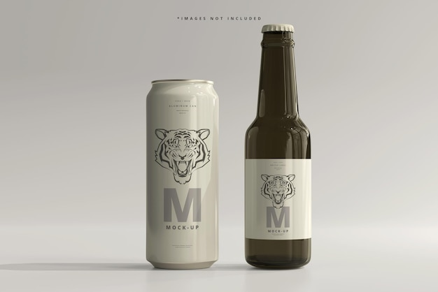 500ml sleek soda oder bierdose mit flaschenmodell