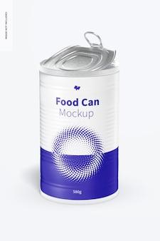 580g food can mockup