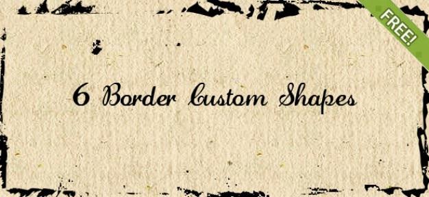 6 grenzen benutzerdefinierte formen