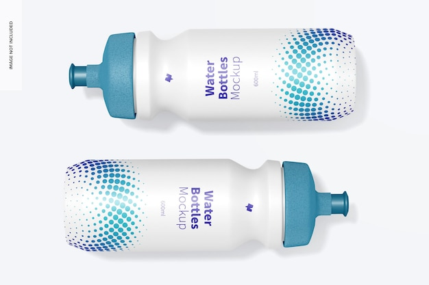 600ml wasserflaschen modell, draufsicht