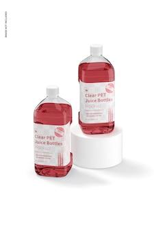 64 oz klare pet-saftflaschen-modell