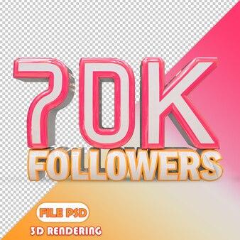 70.000 follower