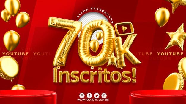 70.000 youtube-abonnenten