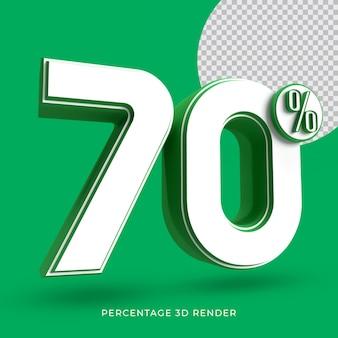 70 prozent 3d render grüne farbe