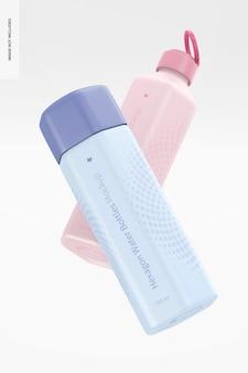700 ml hexagon wasserflaschen mockup, schwimmend