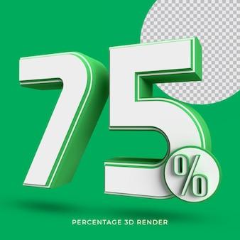 75 prozent 3d render grüne farbe