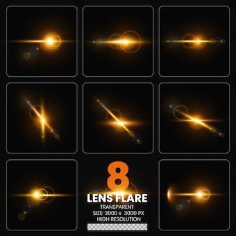 8 bunte lens flare psd premium