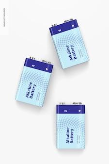 9v alkaline batterie mockup