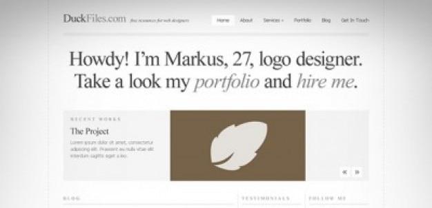 A typografie perfekte website-templates