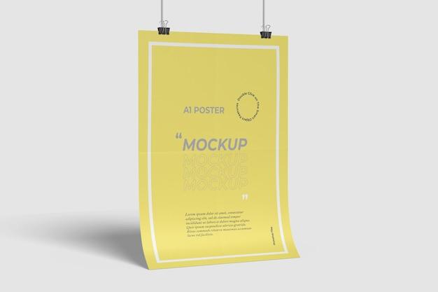 A1 poster mockup seitenansicht