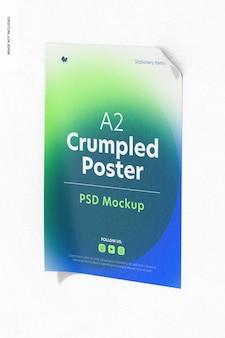 A2 zerknittertes poster-modell, vorderansicht