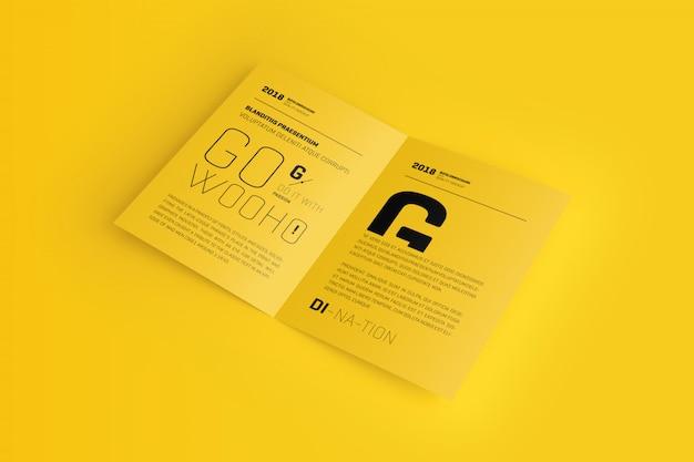 A4 / a5 bifold broschüren-modell