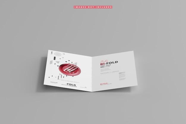 A4 bi-fold-broschürenmodell
