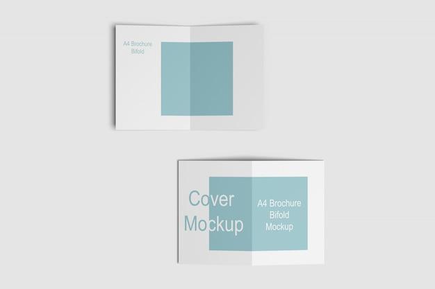 A4 bifold brochure mockups