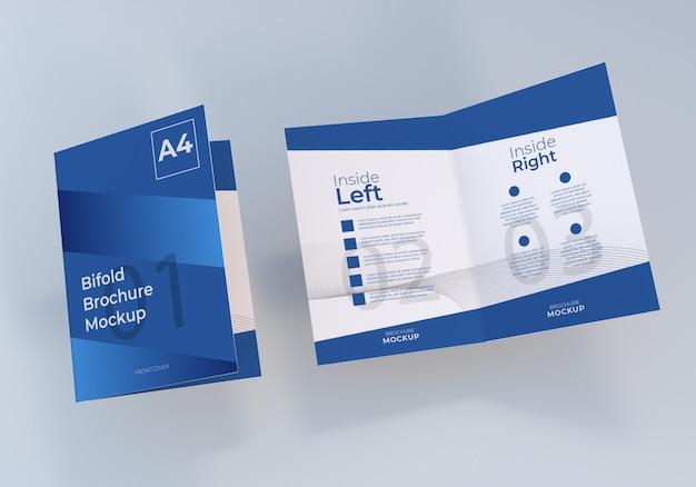 A4 bifold brochure paper mockup design