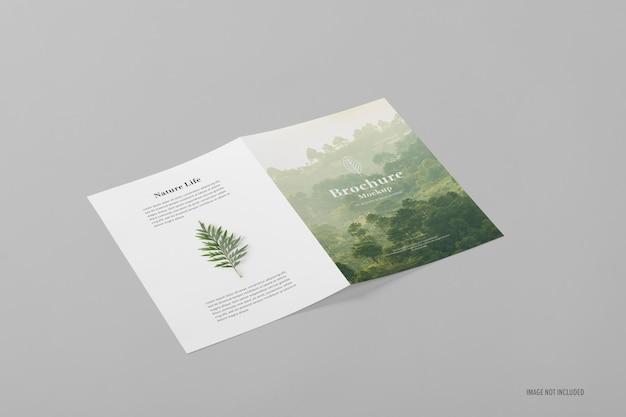 A4 bifold broschüre mockup vorlage