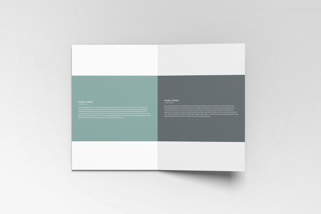 A4 bifold broschüre modell
