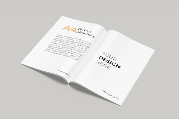 A4 bifold-broschürenkatalog