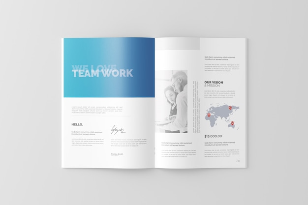 A4 broschüren- / katalog-modell