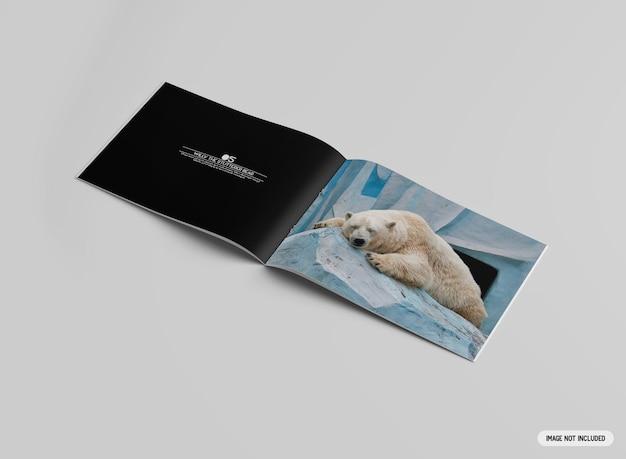 A4-broschürenmodell im querformat