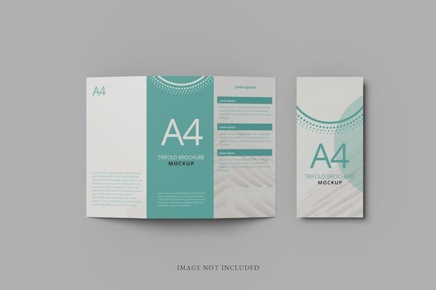A4-broschürenmodell mit doppelfaltung