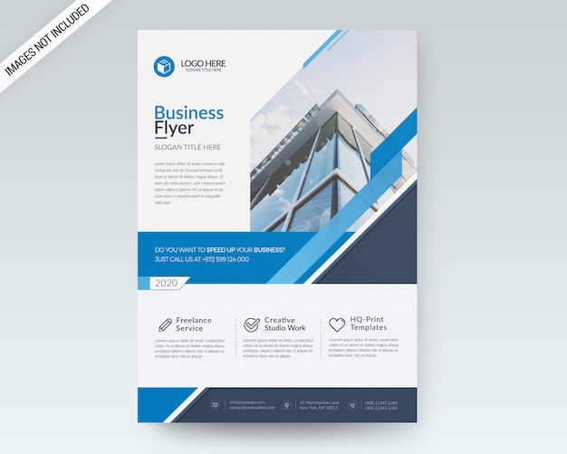 A4 business flyer vorlage