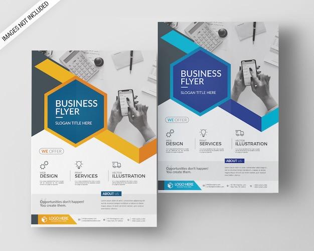 A4 business flyer vorlage